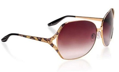 Lugano Diamonds Pink Lens Sunglasses