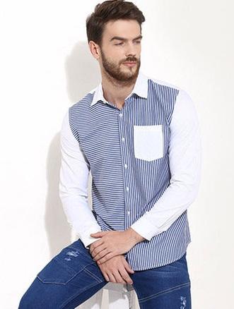 Men's Cotton Striped Shirt