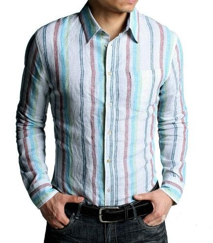 Men's Embroidered Button Down Shirt