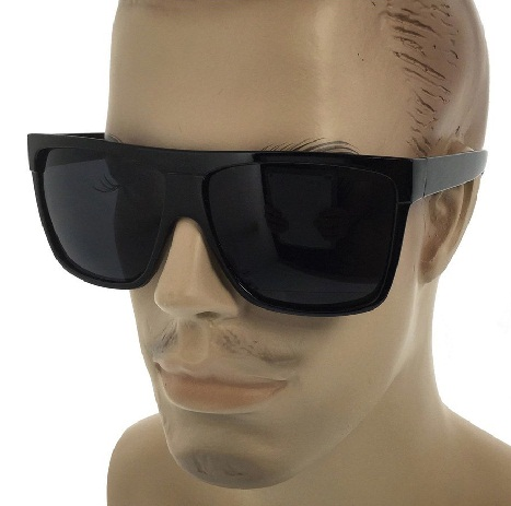 Men's Flat Top Black Sunglasses