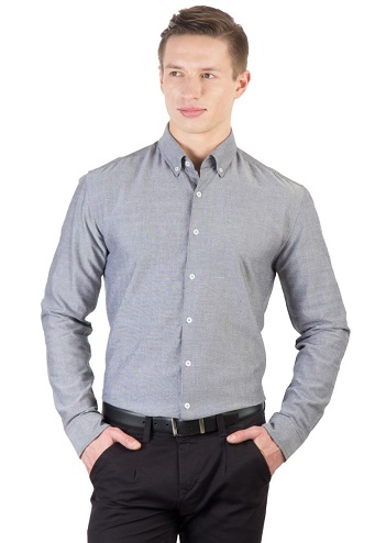 Men's Formal Grey Shirt