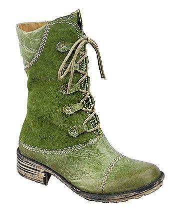 Men's Green Work Boots