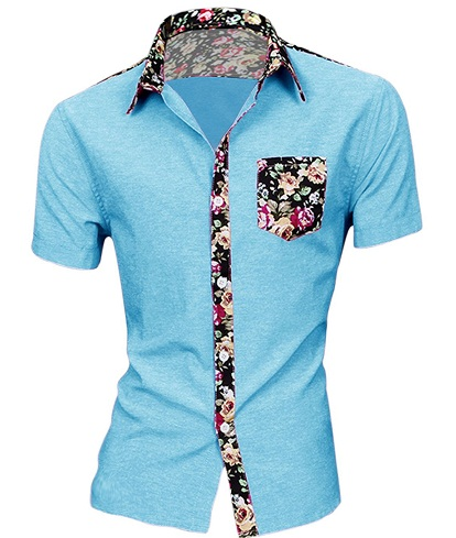 Men's One Pocket Patch work Button up Shirts