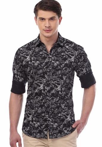 Men's Printed Cotton Shirt