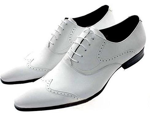 Men's White Wedding Shoe