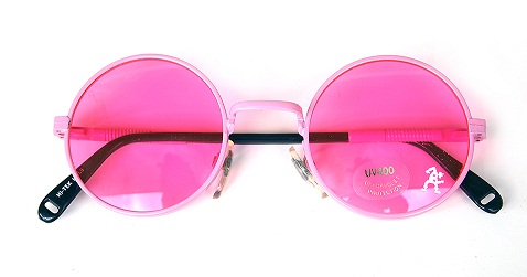 Metal Pink Sunglasses