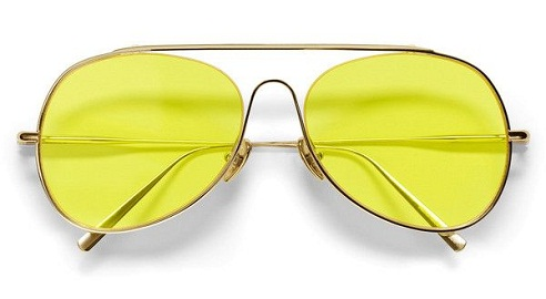 Metallic Frame Yellow Sunglass