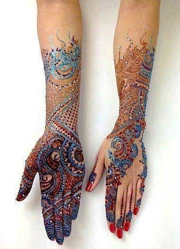 Multi-color Western Mehndi