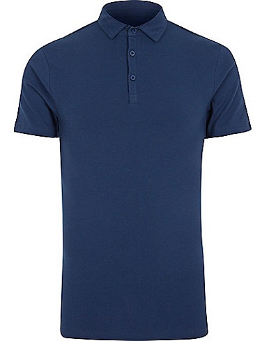 Muscle fit fitness men's polo shirt