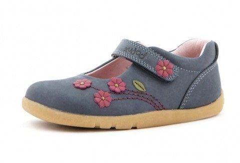 Navy Blue Deep Flower School Shoe