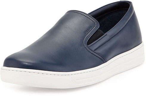 Navy Blue Slip on Sneakers