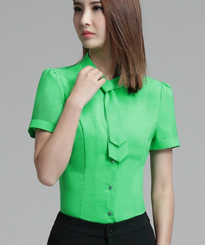 Neck Tie Collar Women Shirt