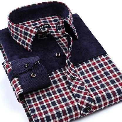 Non Iron flannel shirt for men