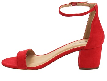 Office Wear Ankle Heels Red Shoes