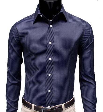 Office Wear Button Up Long Sleeve Shirts for Men