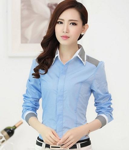 Office Wear Long Sleeve Shirts for Women