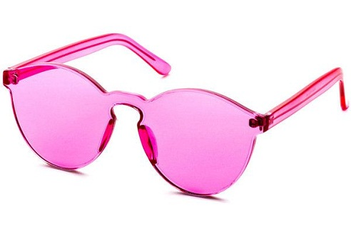 One Piece Pink Sunglasses