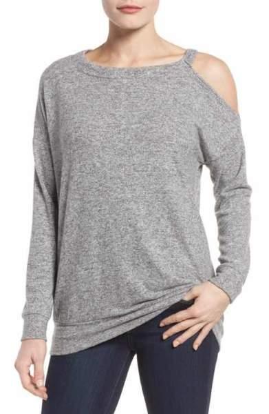 Open Shoulder women's Sweatshirt