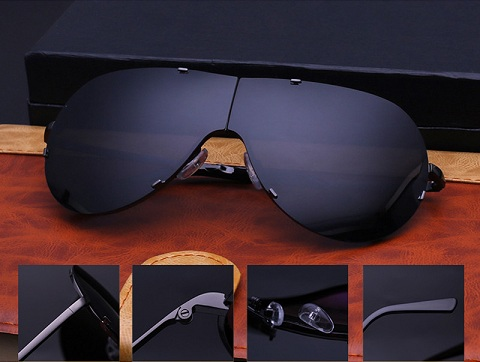 Over Sized Frame less Folded Sunglasses for Women