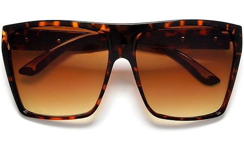 Oversized Women's Angular Square Sunglass