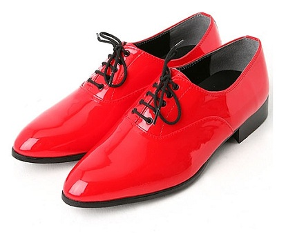 Oxford Red Men Shoes