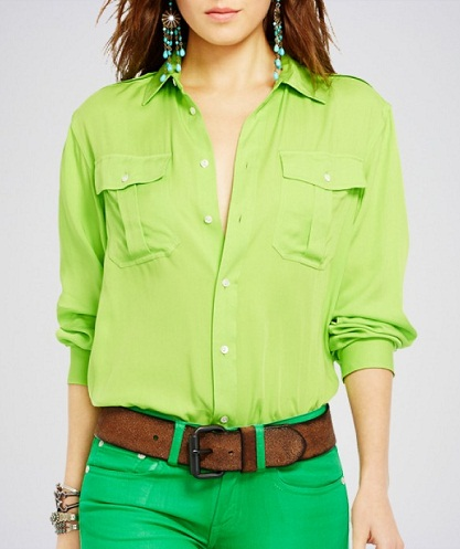 Parrot Green Women Shirts