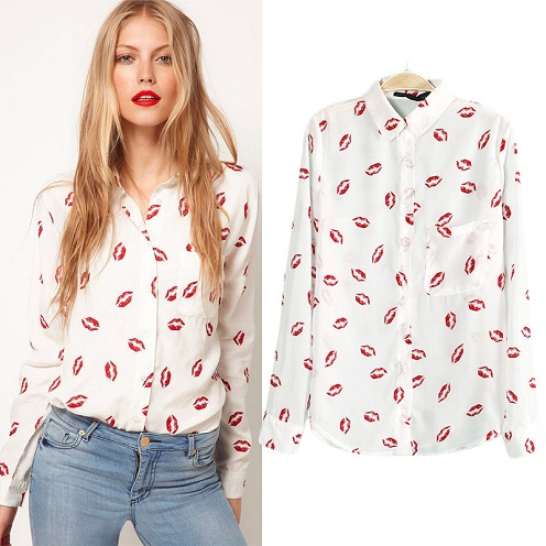 Party Type Long Sleeve Shirts for Woman