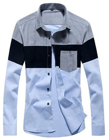 Patchwork Slim Fit Shirt