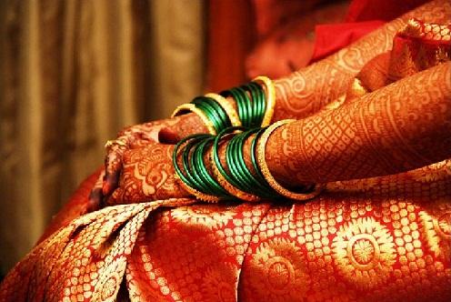 Patola Zari Work Marathi Mehndi Design