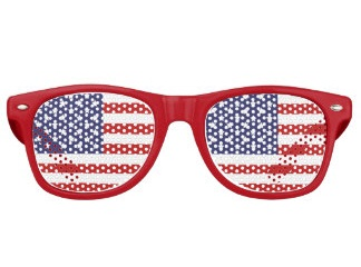 Patriotic Red Sunglasses
