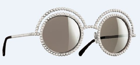 Pearl Frame White Sunglass