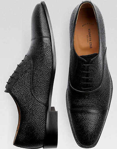 Pebble Textured Oxford Shoes for Men