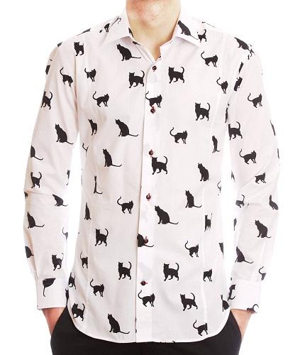 Pet Print Linen Shirt