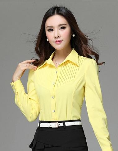 Pin stripe yellow shirt