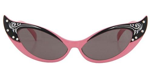 Pink Designer Cat Eye Sunglasses