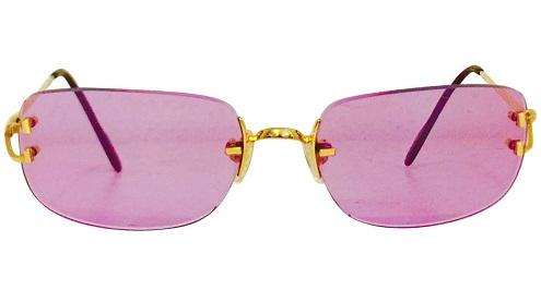 Pink Tinted Vintage Sunglasses