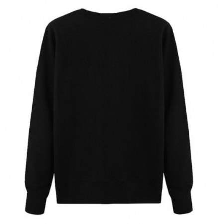 Plain Black Men´s Sweatshirt