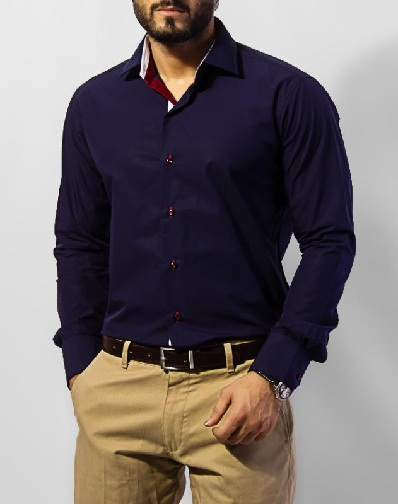 Plain Dark Blue Shirt
