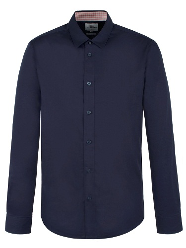 Plain Navy Blue Shirt
