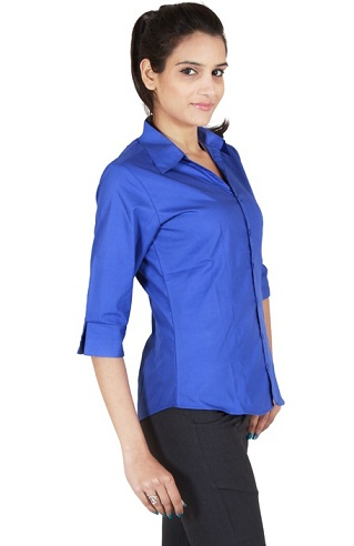 Plain Royal Blue Shirt