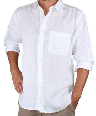 Plain White Linen Shirt