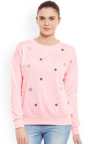 Printed Pink Women's Sweatshirt