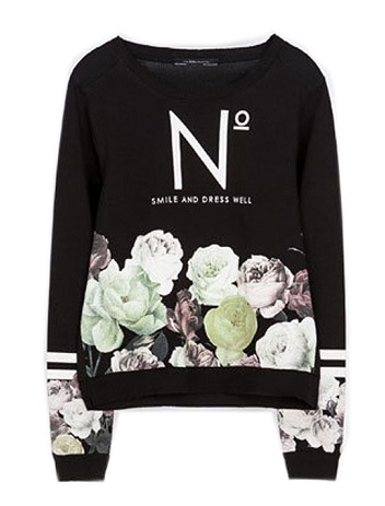 Printed women's Winter sweatshirt