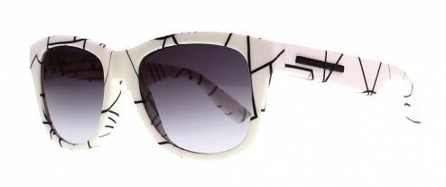 Pure Designer White Sunglass