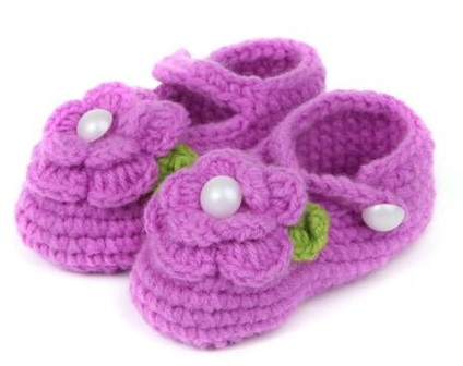 Purple Wool Toddler Shoes