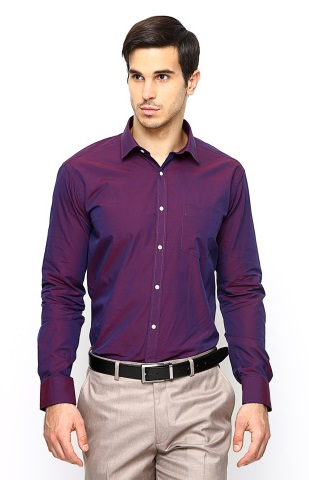 Purple slim fit Shirt