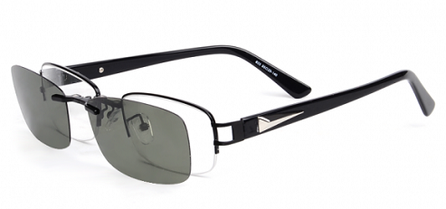 Rectangle Clip On Sunglasses