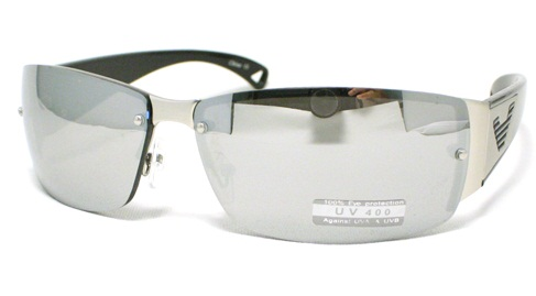 Rectangular Fashionable Rimless Sunglasses for Men