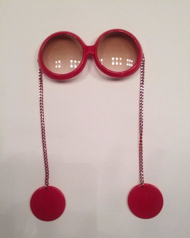 Red Sunglasses with Earring