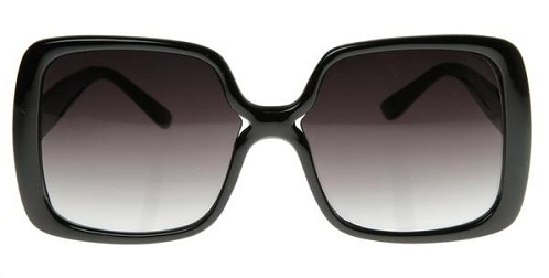 Retro Black Lenses Square Sunglass